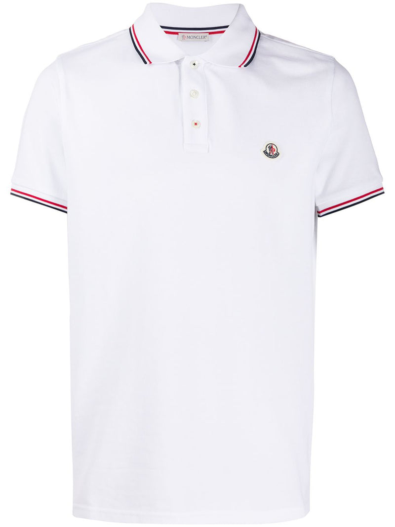 MONCLER logo polo shirt white