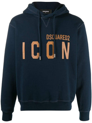 DSQUARED2 Icon Logo Hoodie Navy/Gold