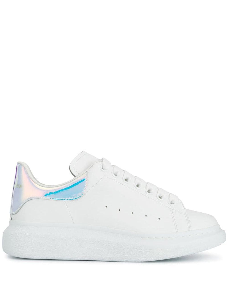 ALEXANDER MCQUEEN oversized sole sneakers white/iridescent