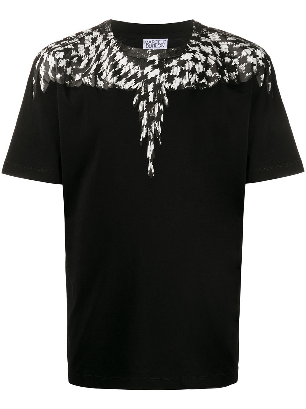 MARCELO BURLON Cross Pattern Wings T-shirt Black
