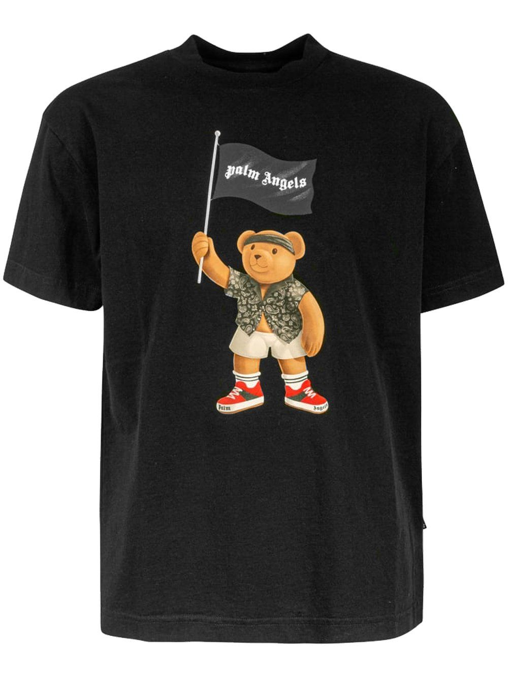 PALM ANGELS Pirate Bear T-Shirt Black
