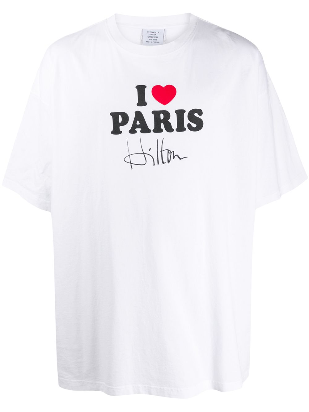 VETEMENTS I love Paris t-shirt white