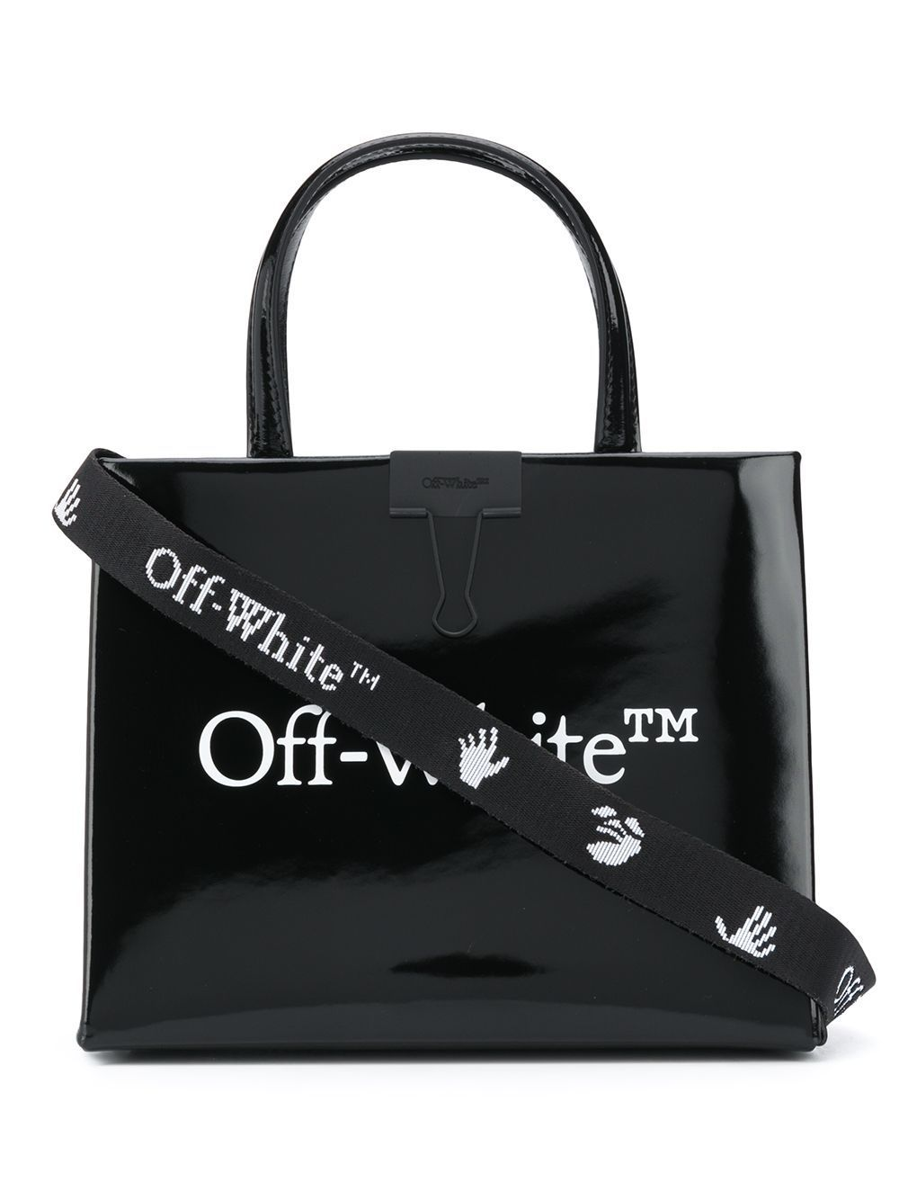 Off-White Mini Logo Box Bag Black