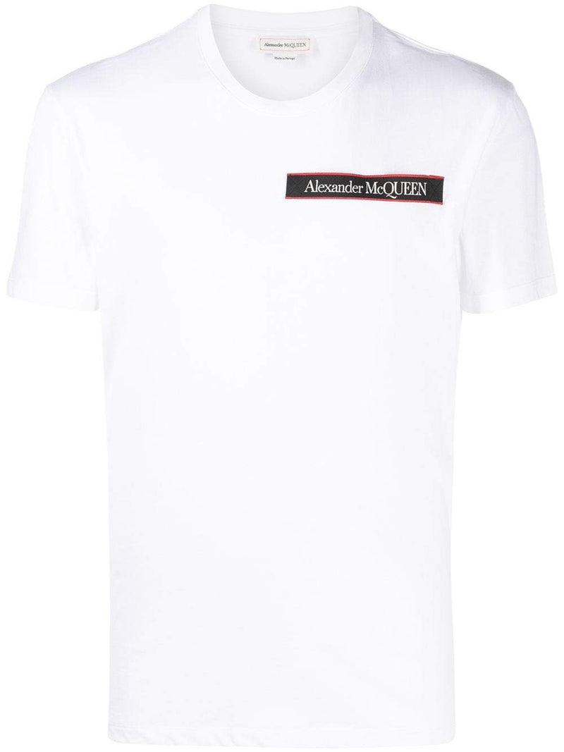 ALEXANDER MCQUEEN Logo Patch T Shirt White