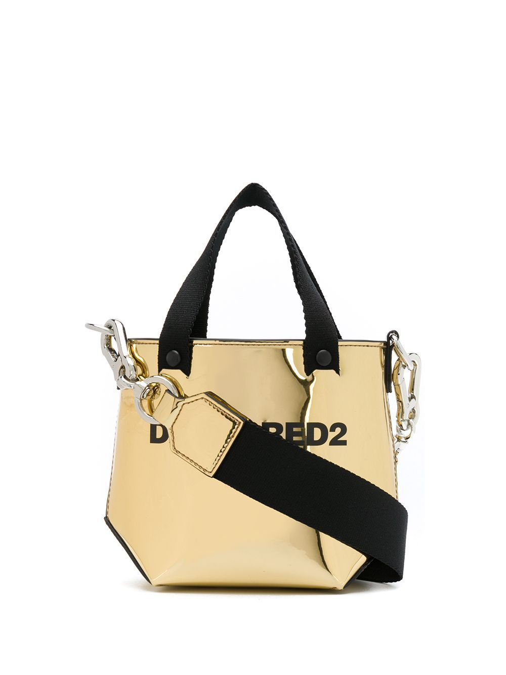 DSQUARED2 Logo Shopping Bag Gold/Black