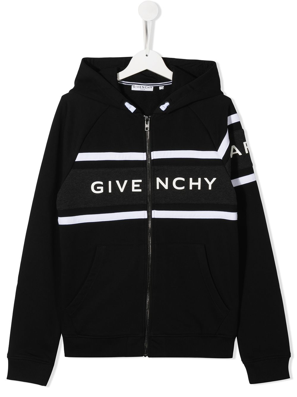 GIVENCHY KIDS Striped Logo Zipped Sweatshirt - Maison De Fashion