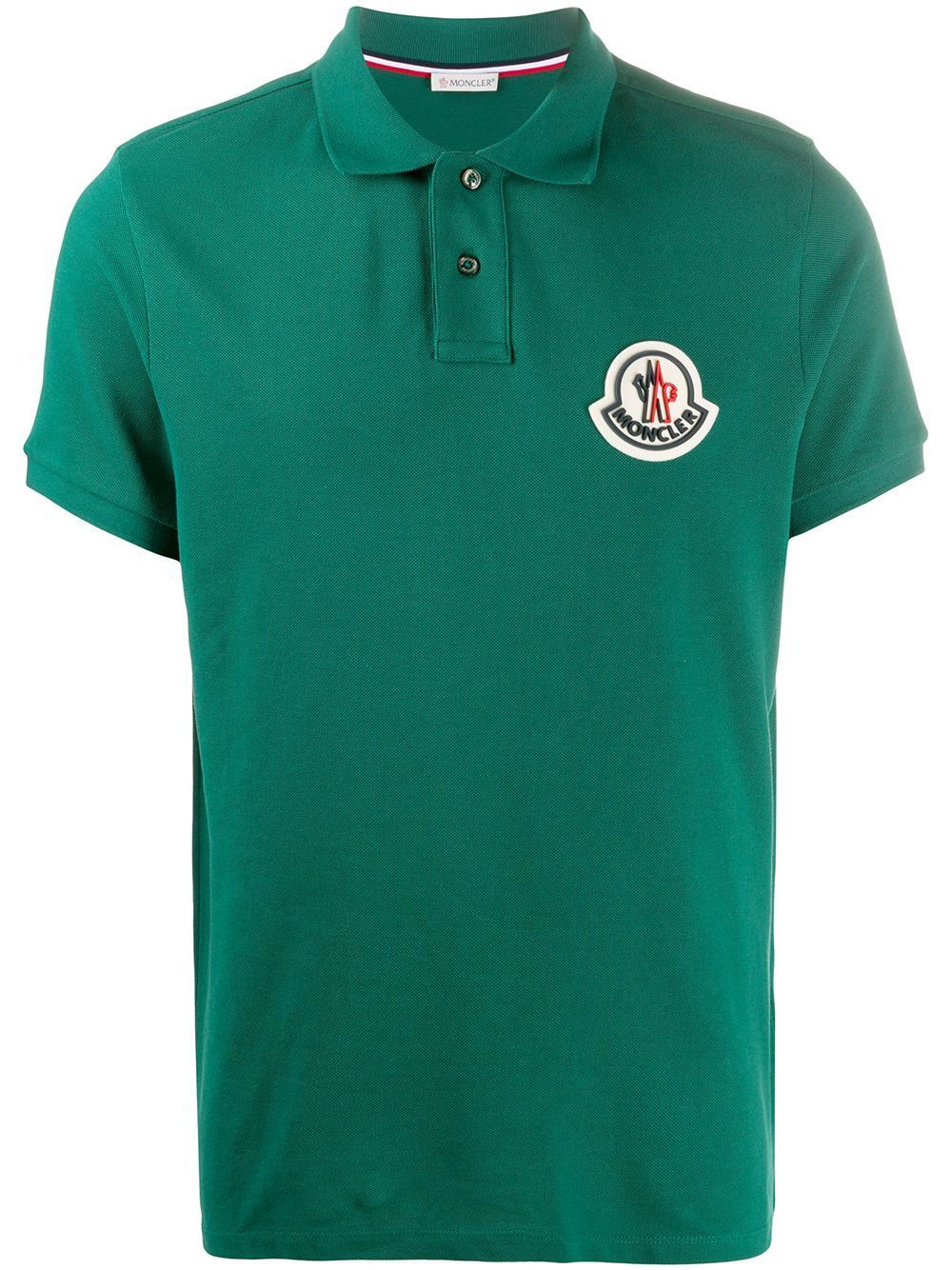 MONCLER Rubber Logo Polo Shirt Green
