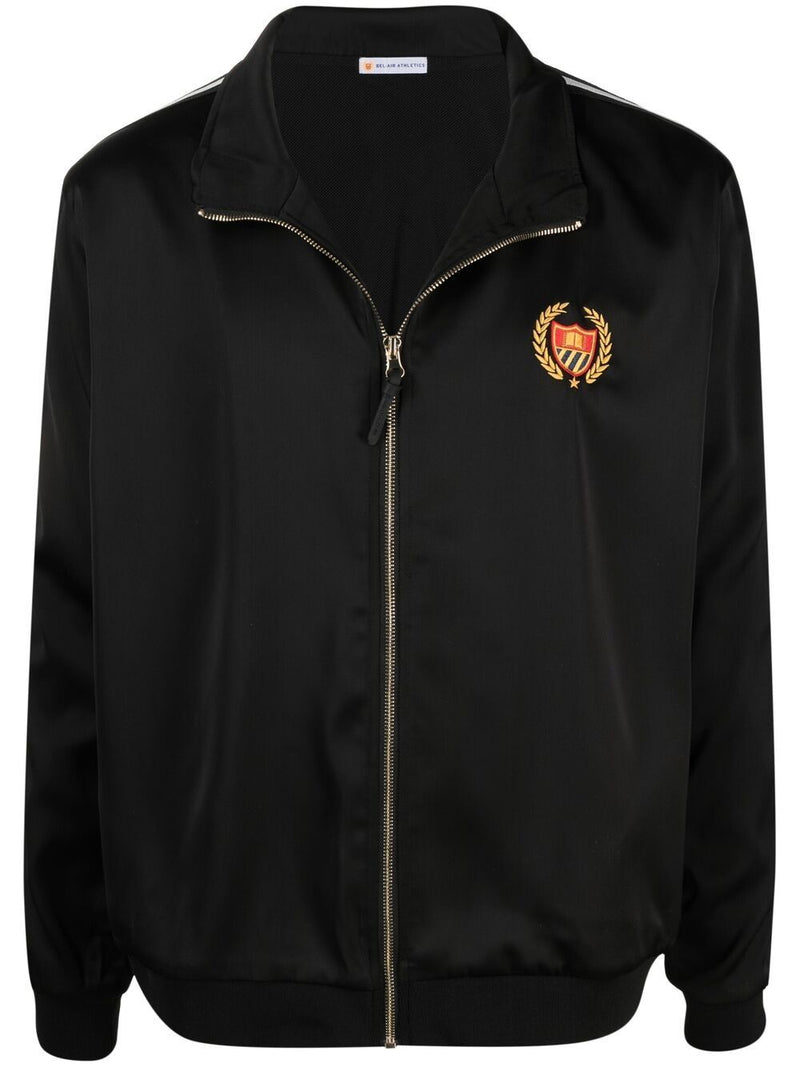 BEL-AIR ATHLETICS Logo Embroidered Track Jacket Black