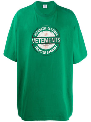 VETEMENTS beer badge t-shirt