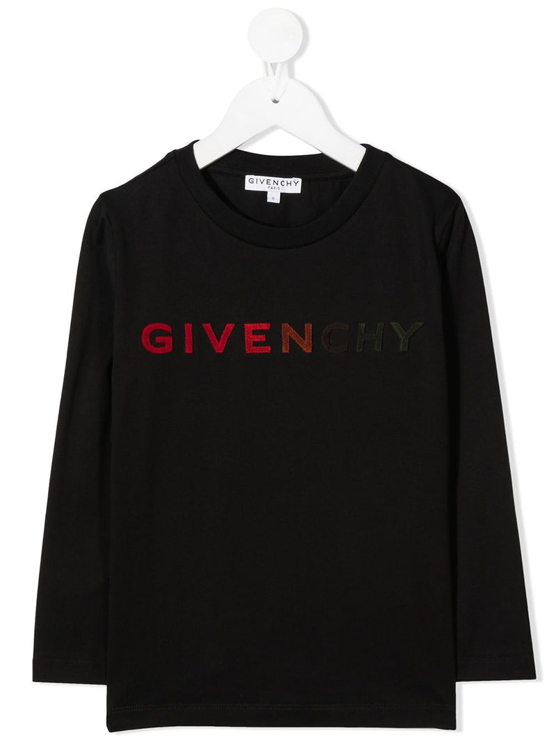 GIVENCHY KIDS Multicolour Logo Sweatshirt Black