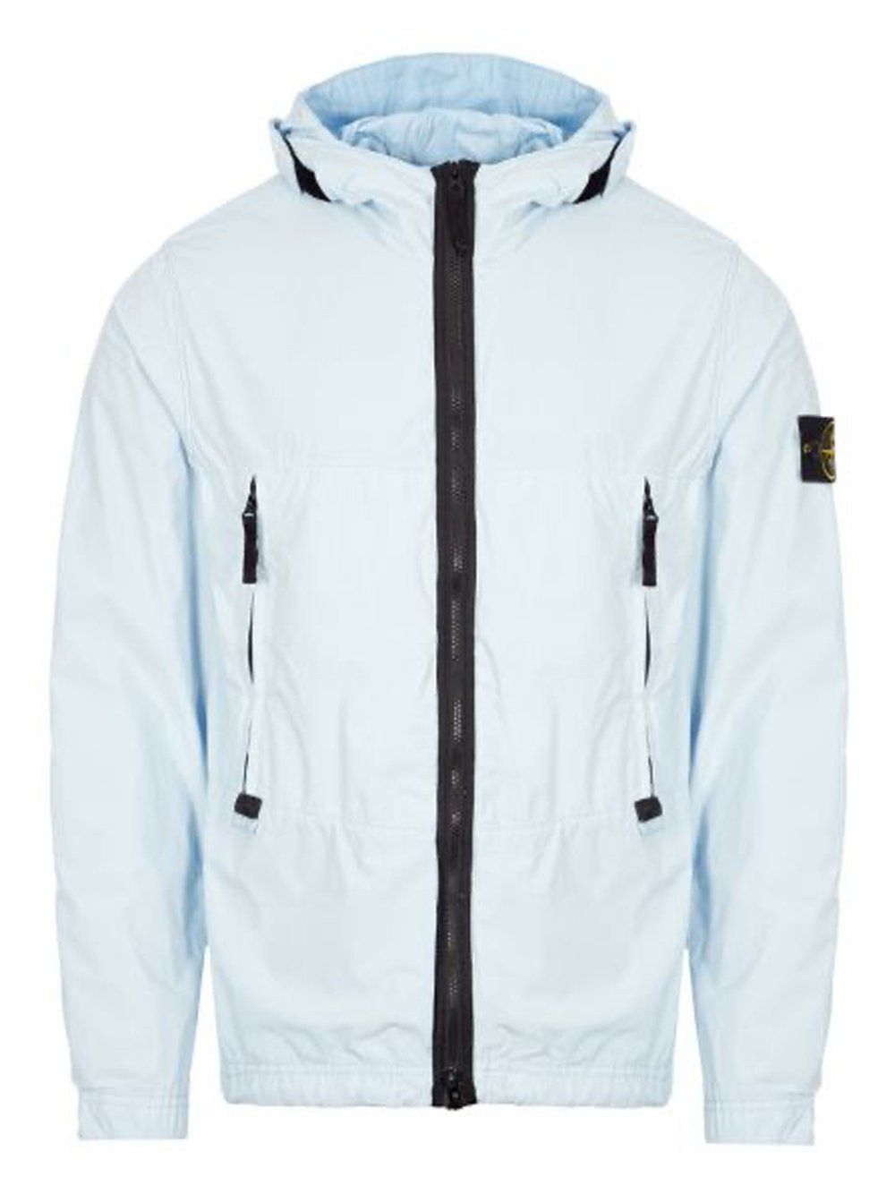STONE ISLAND Hooded Windbreaker Sky Blue