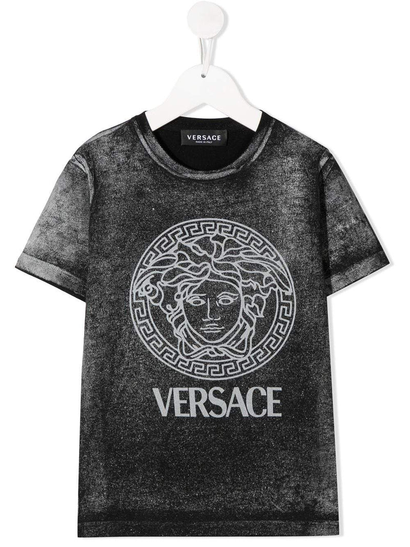 VERSACE KIDS Medusa Print T-Shirt Grey/White - Maison De Fashion