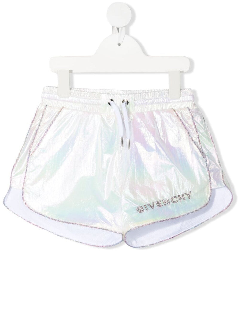 GIVENCHY KIDS Logo Shorts Iridescent