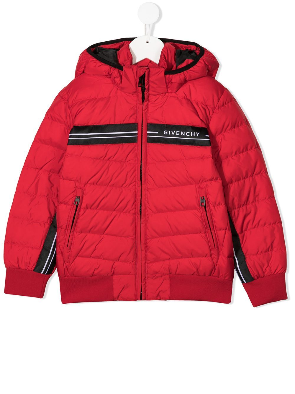GIVENCHY KIDS Tape Logo Coat Red - Maison De Fashion