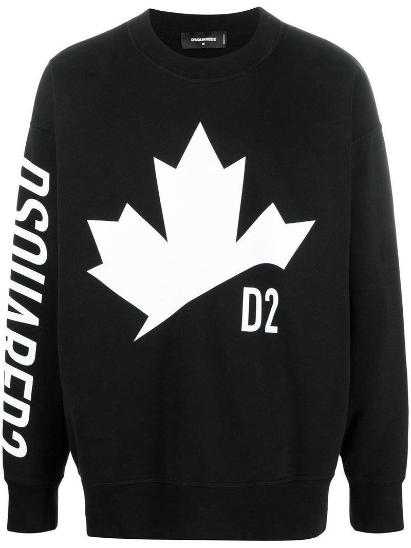 DSQUARED2 Logo Print Sweatshirt Black
