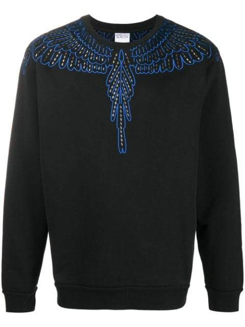 Marcelo Burlon Studs Wings Sweatshirt Black