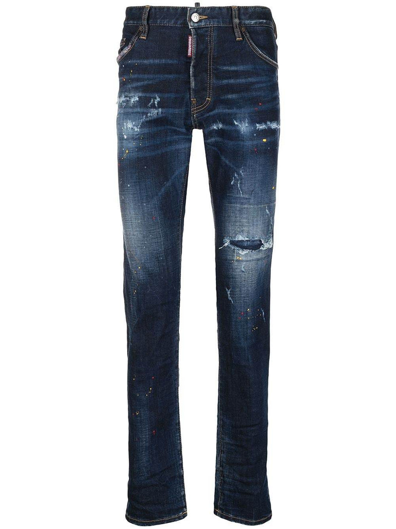 DSQUARED2 Ripped Straight Leg Cool Guy Jeans