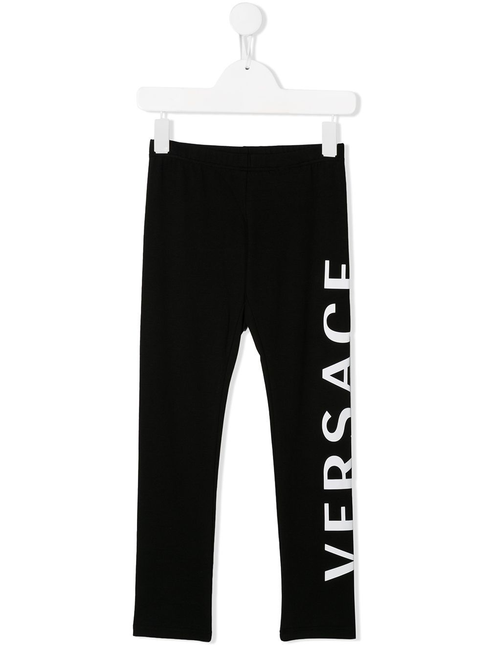 VERSACE KIDS logo printed leggings black - Maison De Fashion