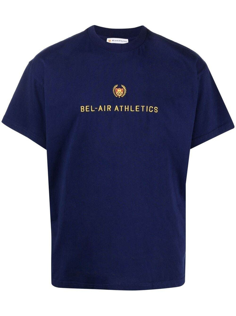 BEL-AIR ATHLETICS Academy Crest T-Shirt Navy