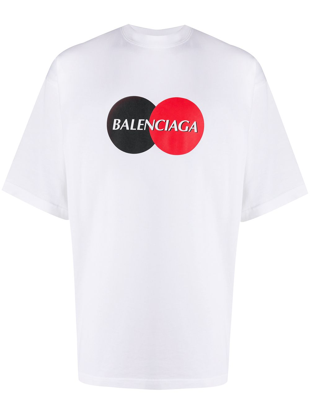 BALENCIAGA uniform logo t-shirt white
