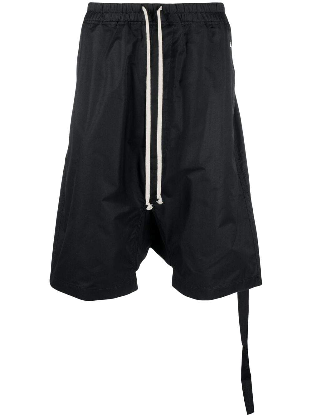 RICK OWENS DRKSHDW Drop-crotch shorts Black