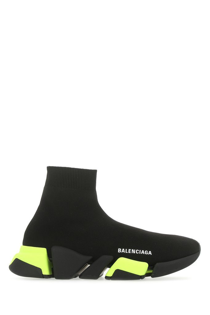 BALENCIAGA Speed 2.0 Sneakers Black/Green - Maison De Fashion