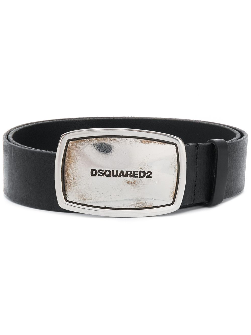 DSQUARED2 Logo Plaque Belt Black - Maison De Fashion