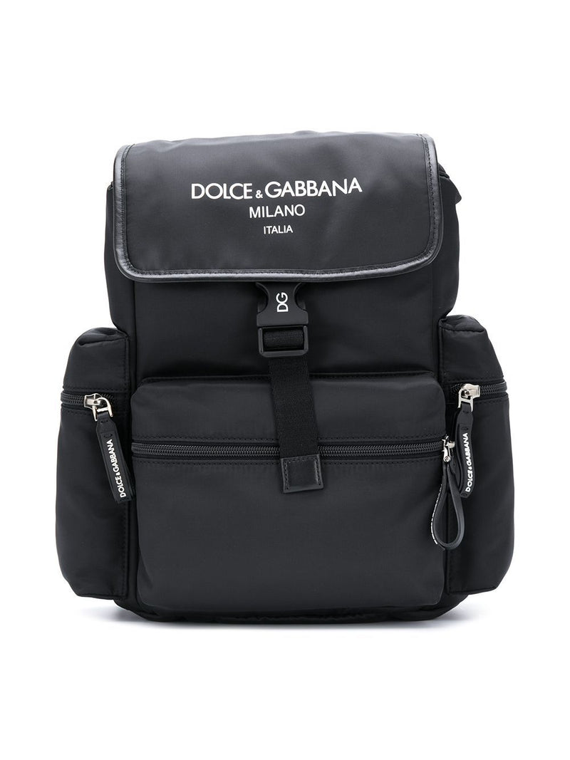 DOLCE & GABBANA KIDS Logo Backpack Black