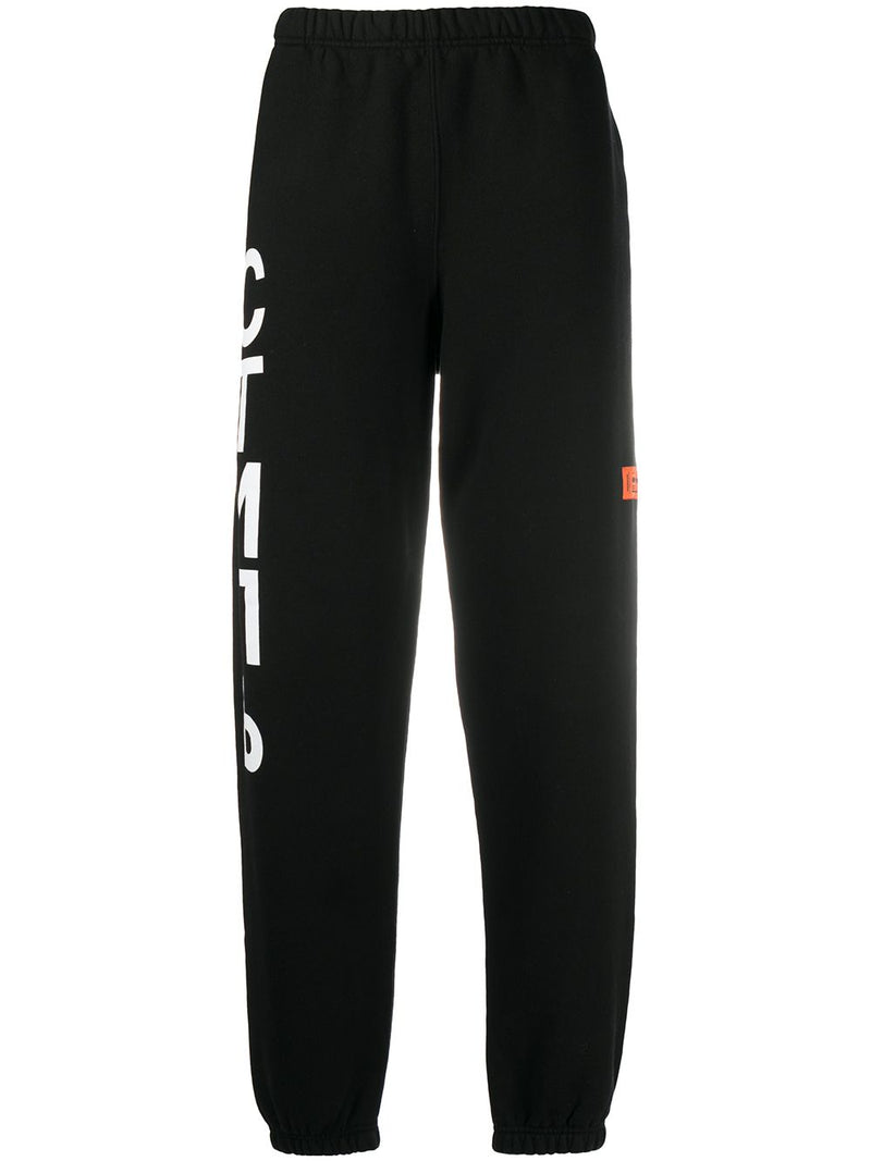 HERON PRESTON Vertical Logo Sweatpants Black