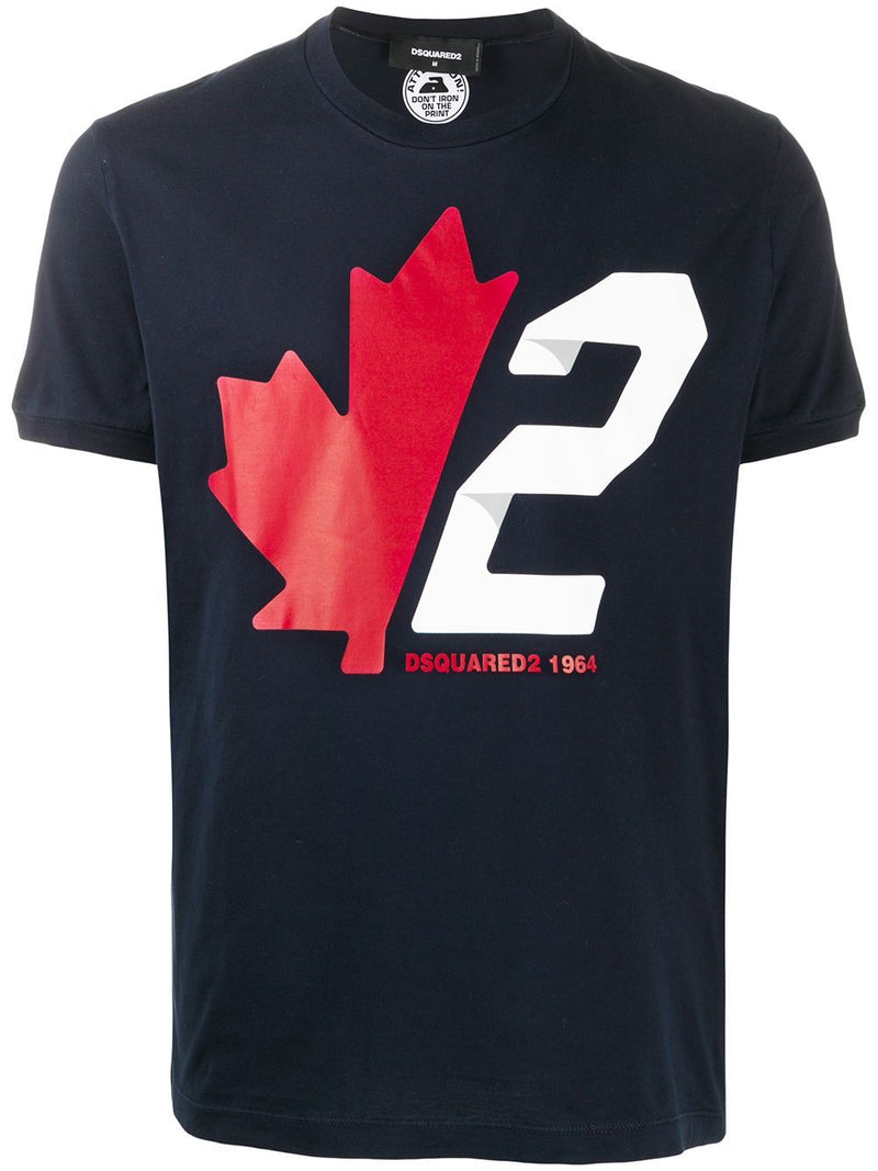 DSQUARED2 Maple Squared T-Shirt Navy