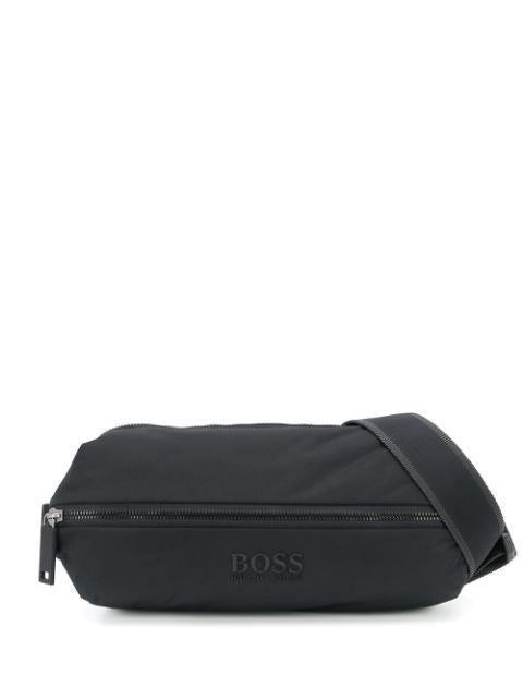 BOSS embossed logo bumbag black - Maison De Fashion