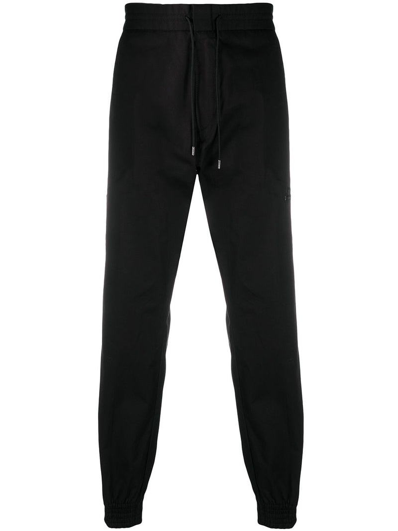 HUGO Straight Leg Cuffed Bottom Trousers Black