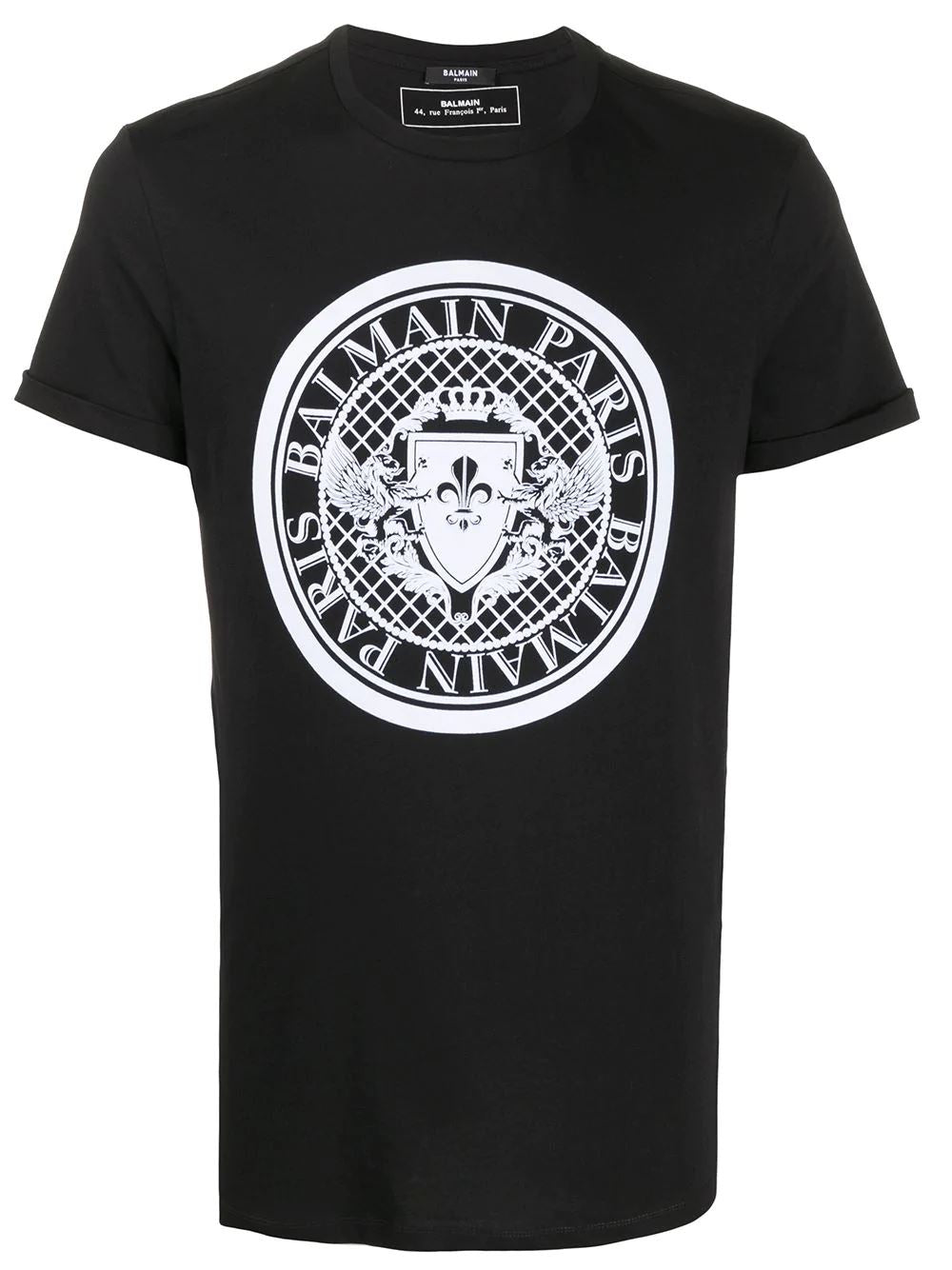 BALMAIN medallion print t-shirt black - Maison De Fashion