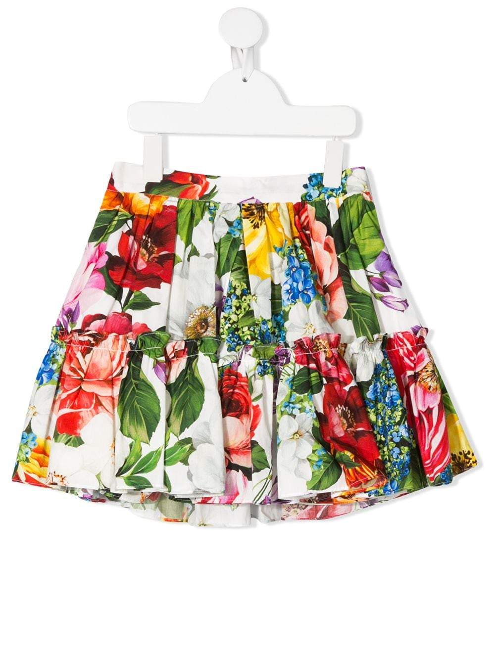 Dolce & Gabbana Kids floral print pleated mini skirt