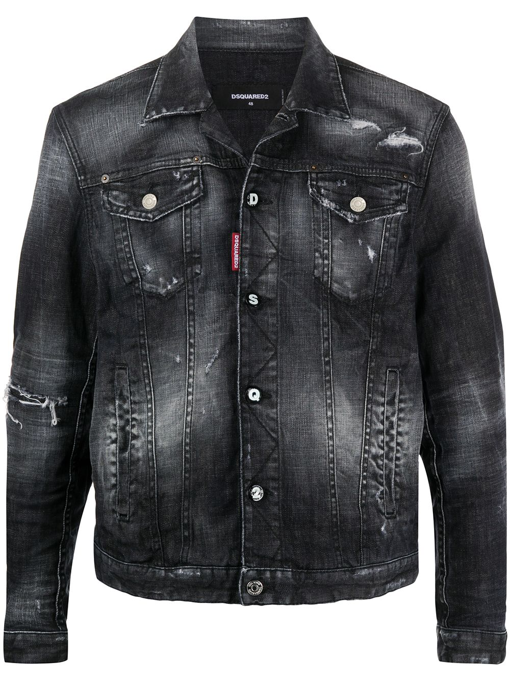 DSQUARED2 Ripped Detail Denim Jacket