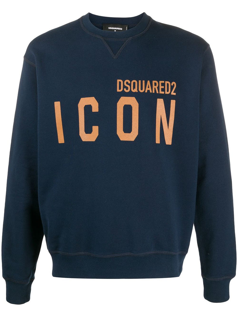 DSQUARED2 Icon Logo Sweatshirt Navy/Gold