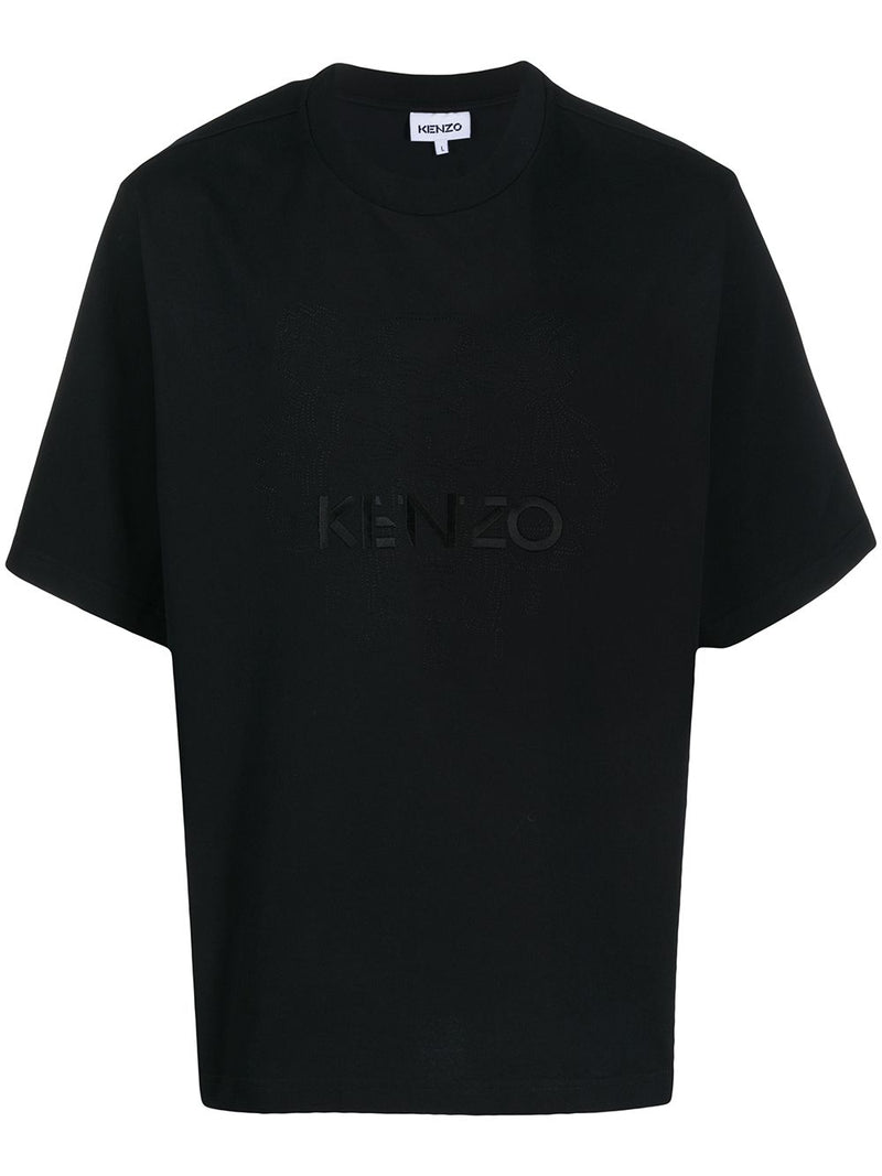 KENZO Embroided Logo Over T-Shirt Black