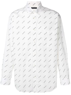 BALENCIAGA all over print shirt white - Maison De Fashion