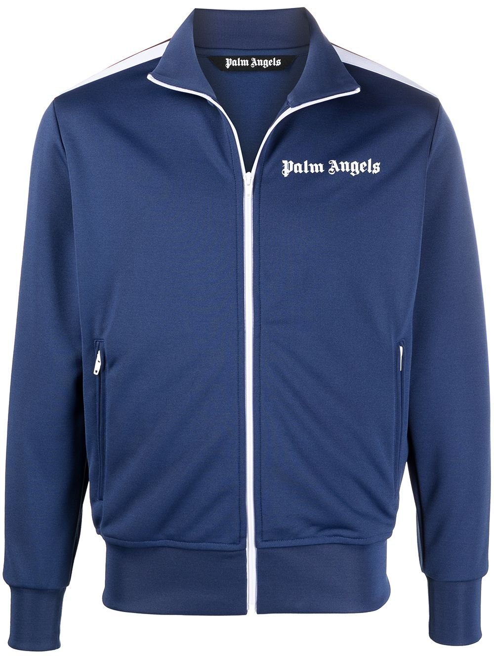 PALM ANGELS Track Jacket Navy/White - Maison De Fashion