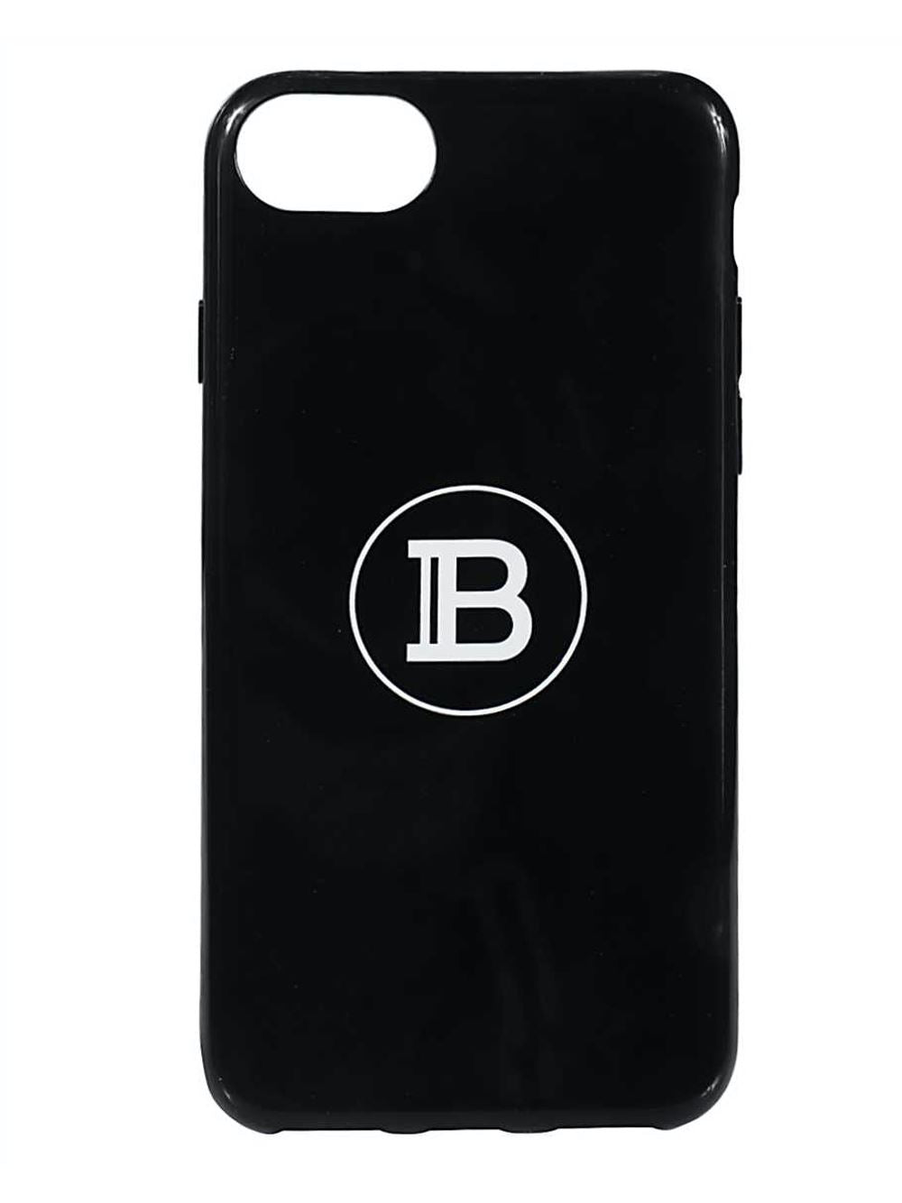 Balmain Logo iPhone 8 Phone Case Black - Maison De Fashion