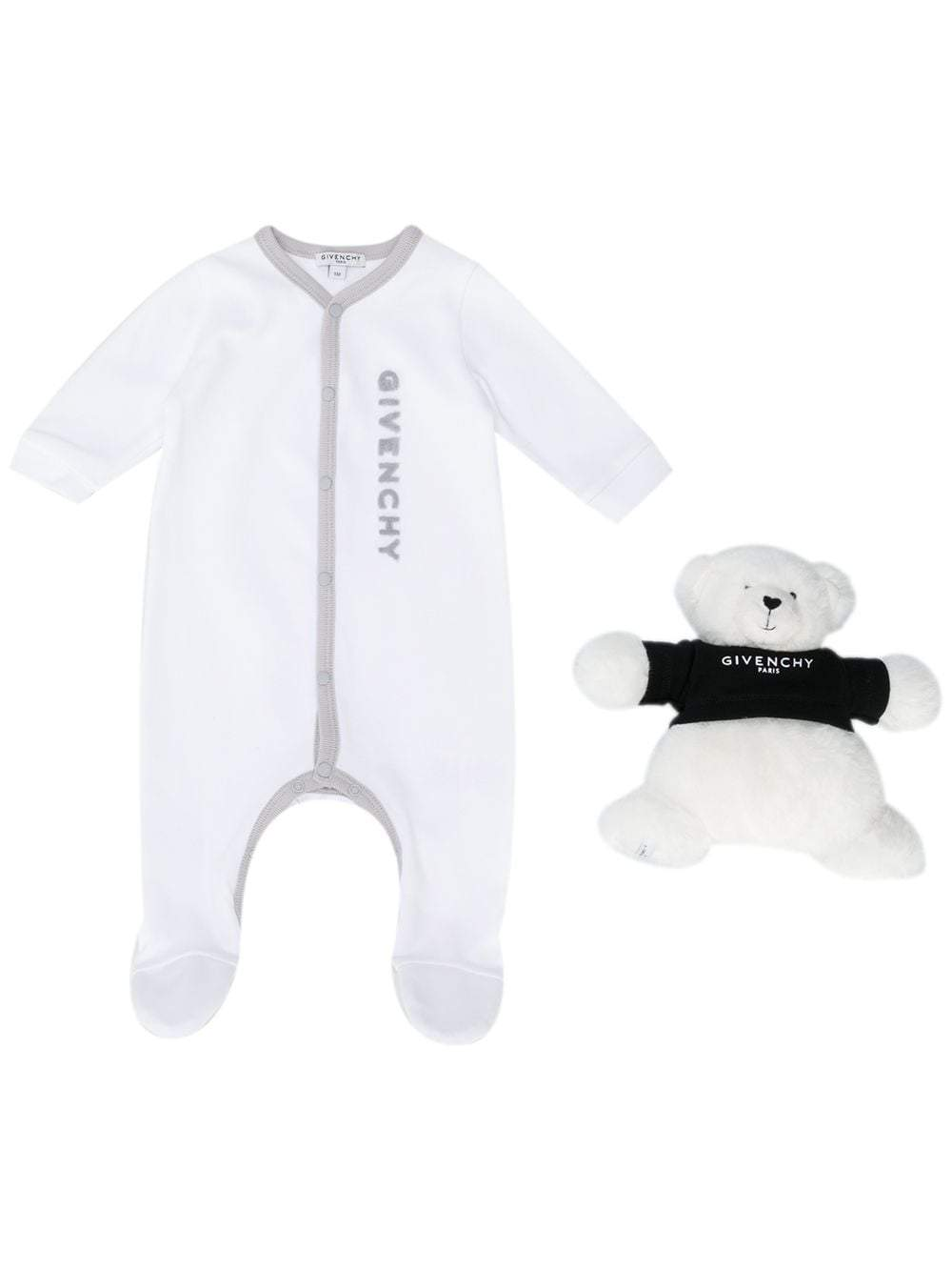 GIVENCHY KIDS Teddy Bear Babygrow White