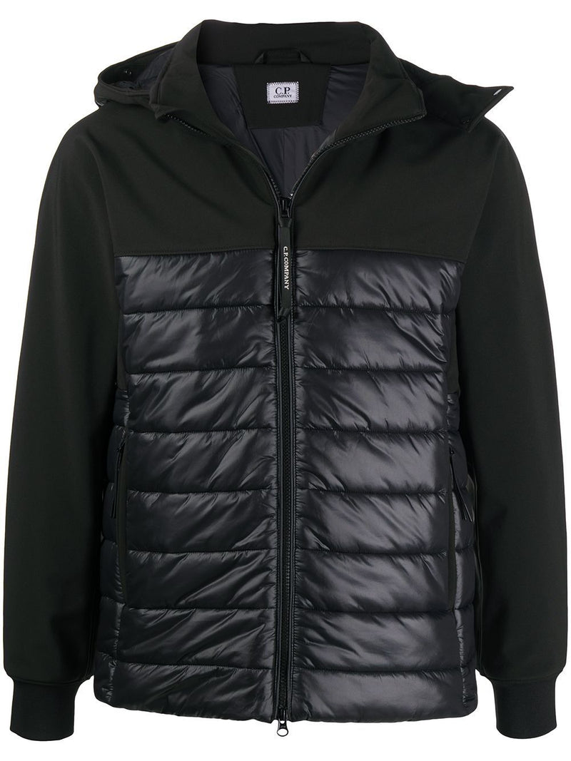 C.P. COMPANY Logo Down Jacket Black