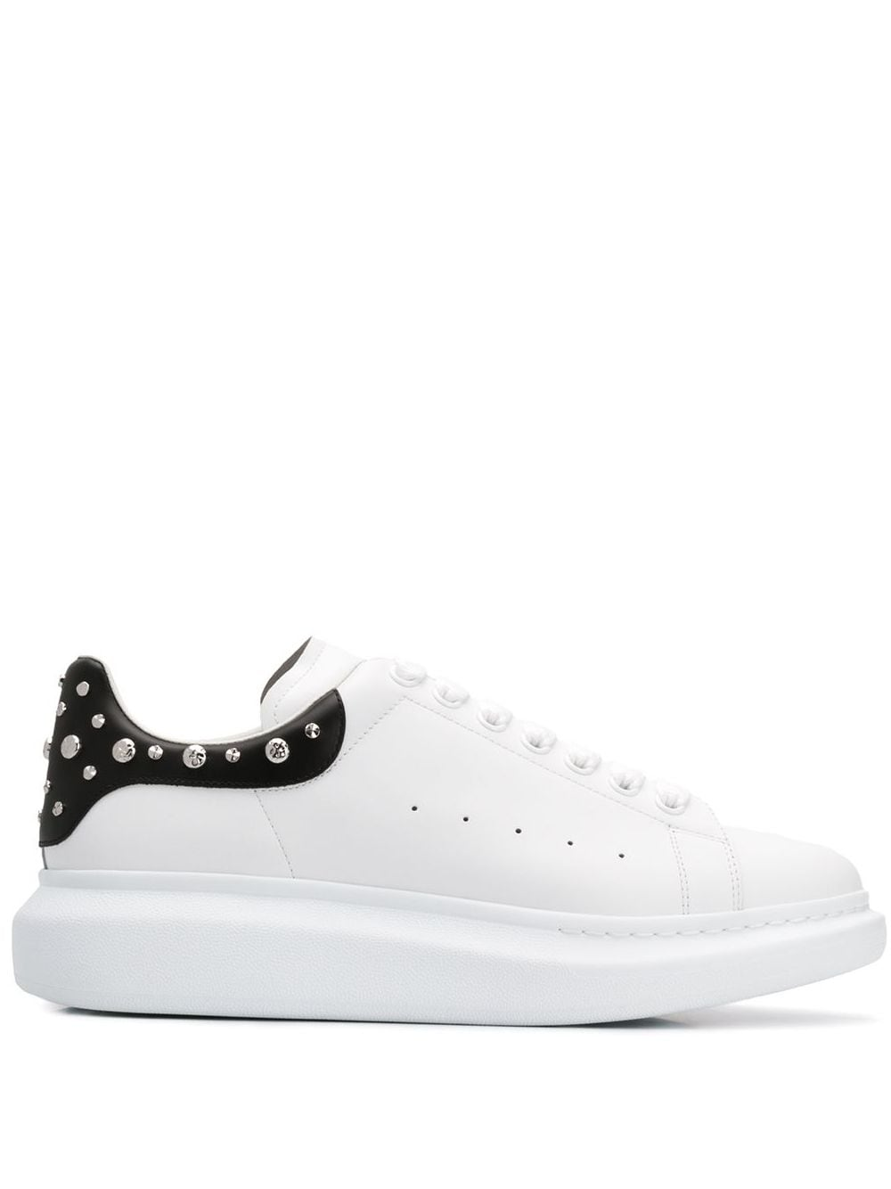 Alexander McQueen studded oversized sole sneakers white/black