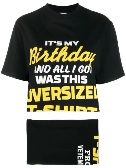 VETEMENTS happy birthday twin set - Maison De Fashion