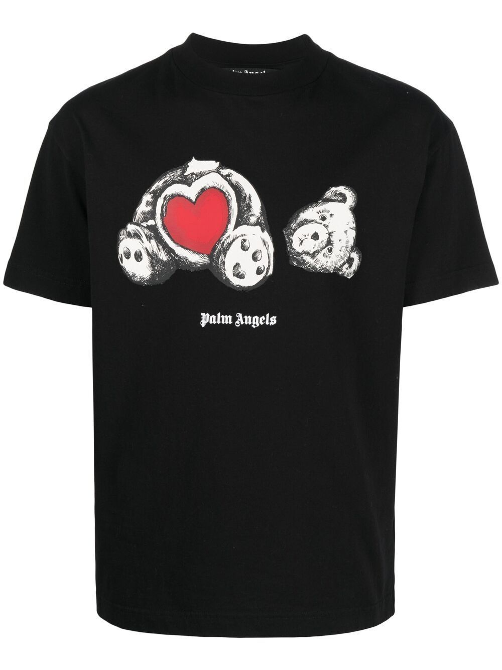 PALM ANGELS Bear In Love Graphic T-Shirt Black