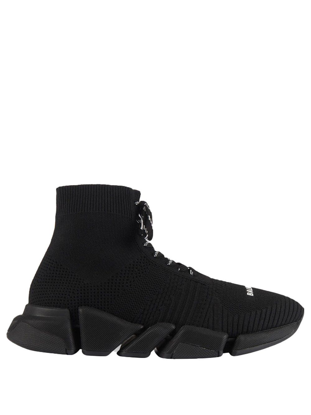 BALENCIAGA Speed 2.0 Lace-Up Sneaker Black - Maison De Fashion