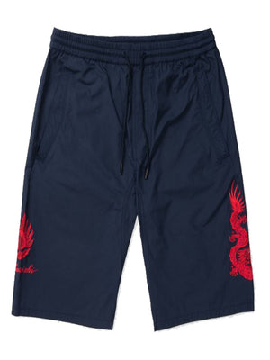 MAHARISHI dragon track shorts navy/red - Maison De Fashion