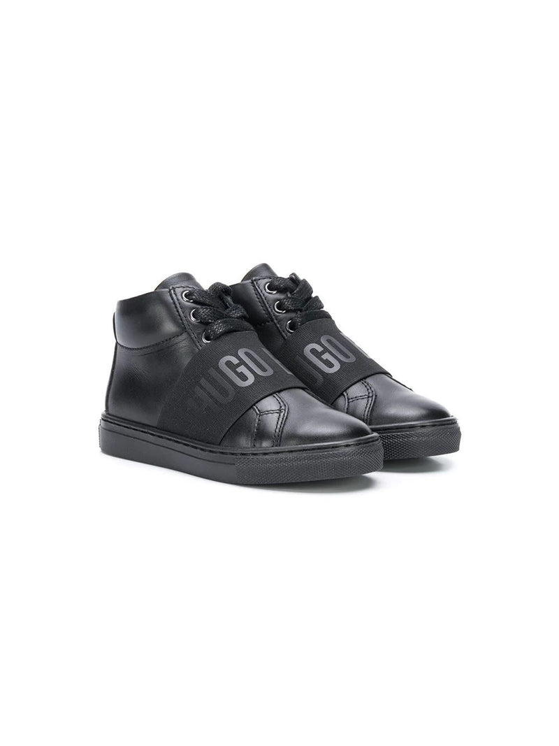 BOSS KIDS high top lace up sneakers - Maison De Fashion