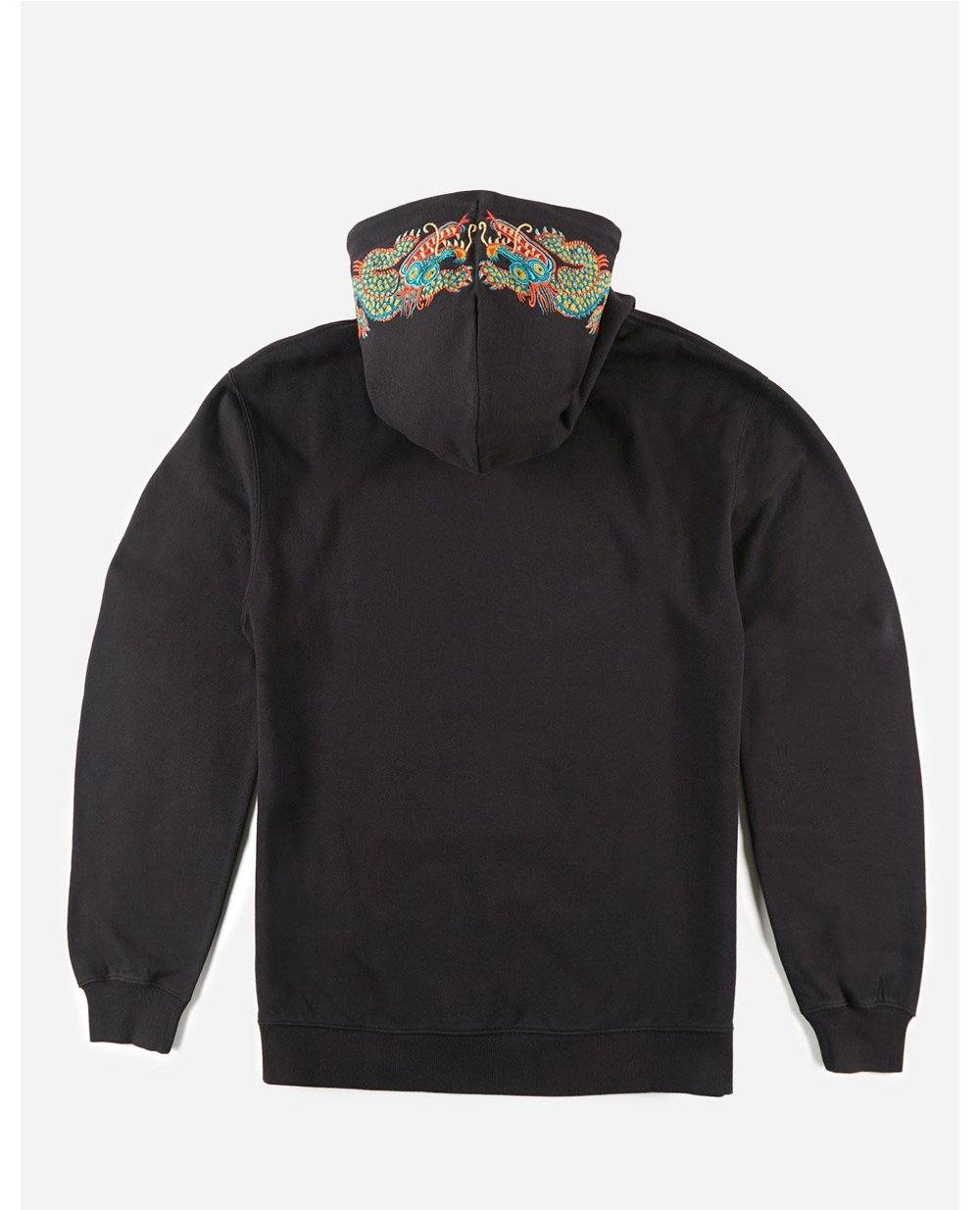 MAHARISHI Liberty Dragon Hooded Sweatshirt Black