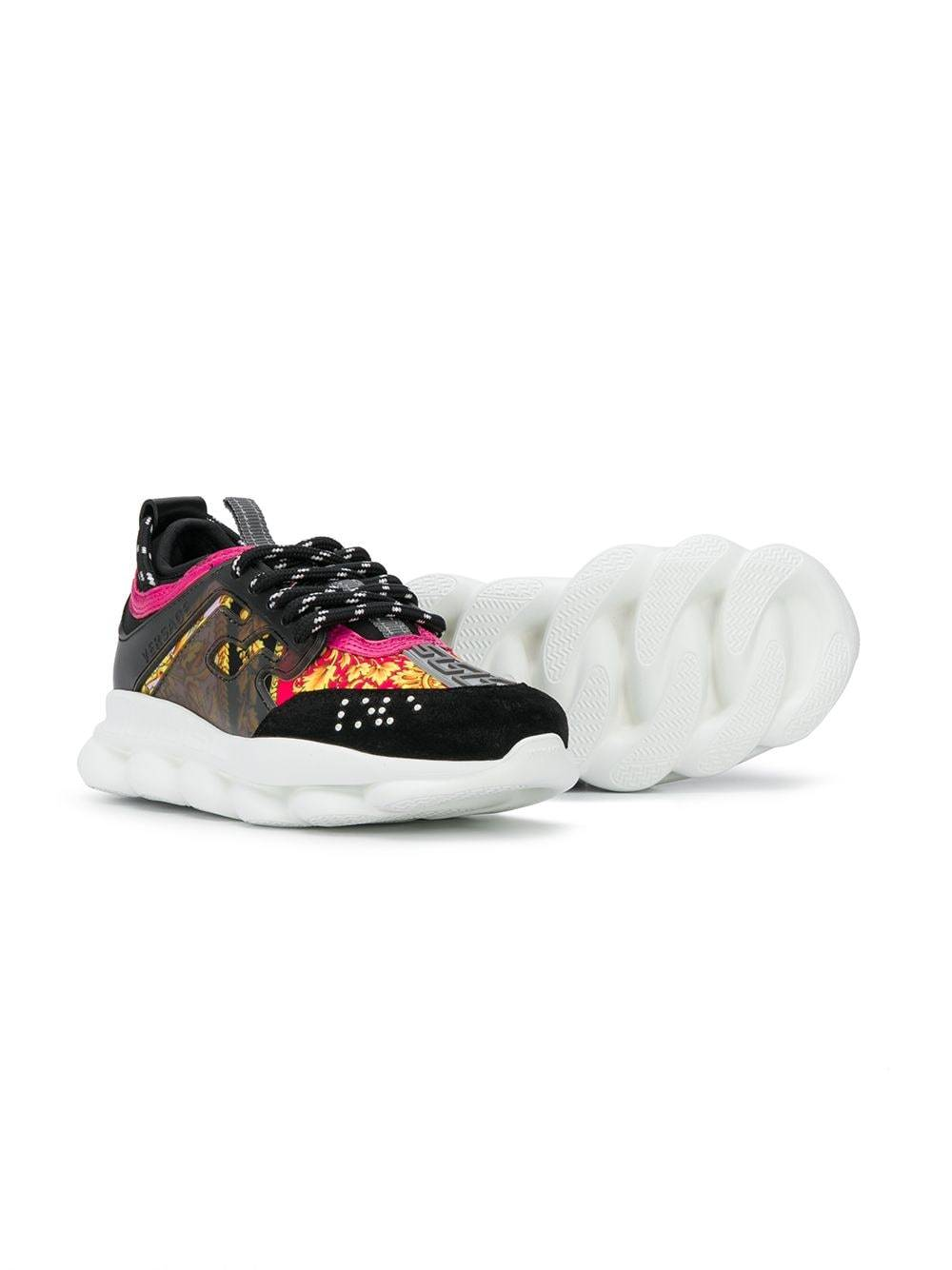 VERSACE KIDS baroque chunky sole trainers black